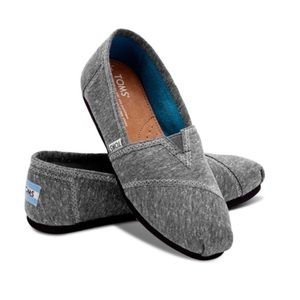 TOMS Classic Dark Gray Marled Jersey Slip-On Shoes
